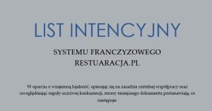 Franczyza w gastronomii. Początek negocjacji poprzez list intencyjny